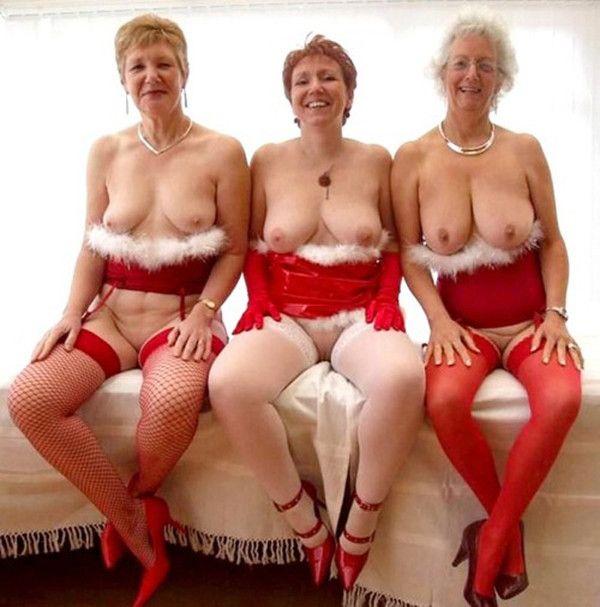 image Santa helper milf in stockings take a big facial